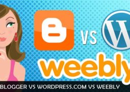 Blogger vs Wordpress vs Weebly