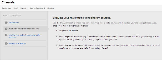 Channels Google Analytics Evaluate Traffic Sources