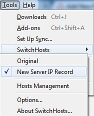 Choose New Host File