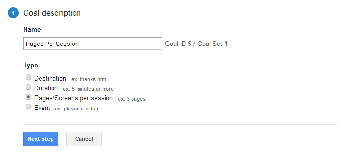 Goal Pages Per Session Step1