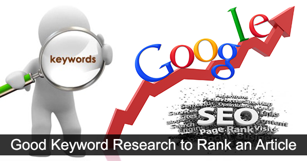 Good Keyword Research to Rank Article