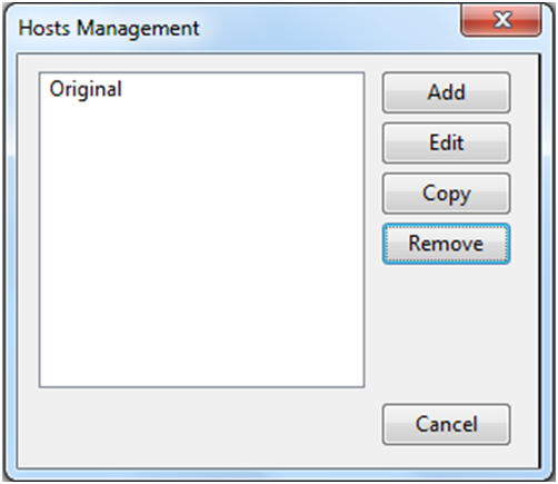 Host Management Switchhost