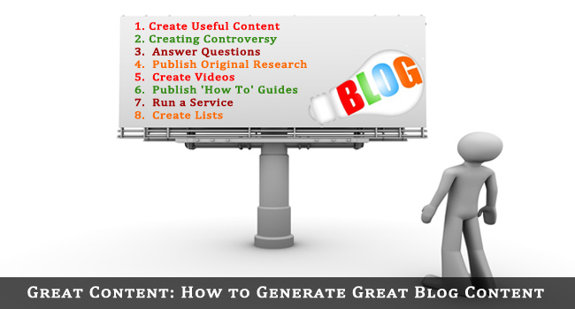 How to Generate Great Blog Content
