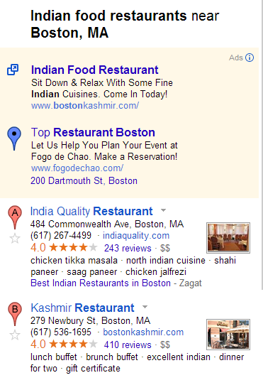 Indian Food Restaurants Boston