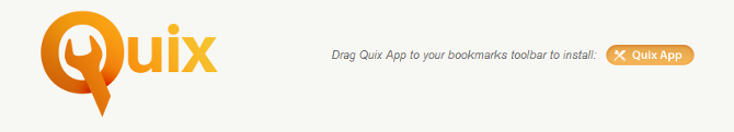 Quix Bookmarklet Install Step One