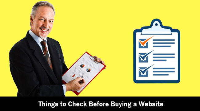Things to Check Before Buying a Website