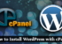 Wordpress With cPanel