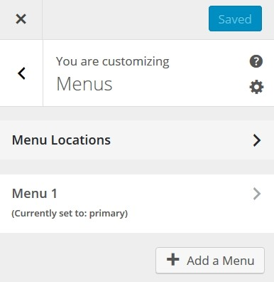 Customize Menu