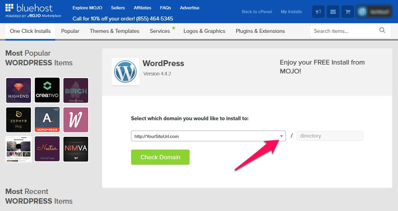 Install WordPress on Your Domain