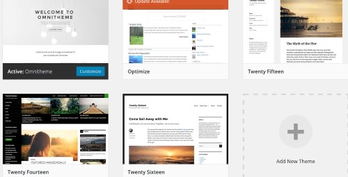 WordPress Installed Themes