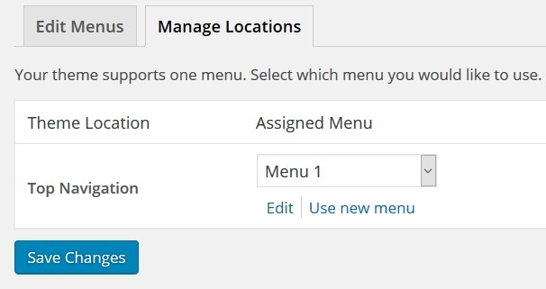 WordPress Menu Editor
