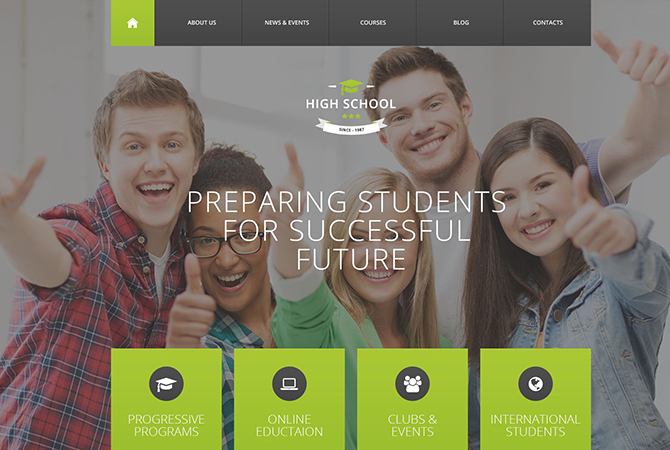 High School Education WordPress Theme