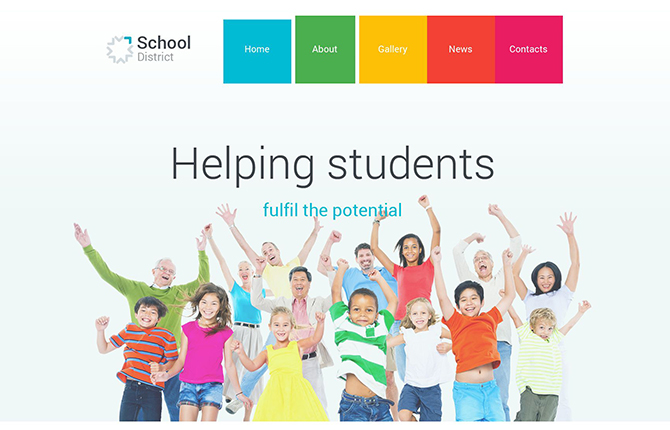 School District Education WordPress Theme