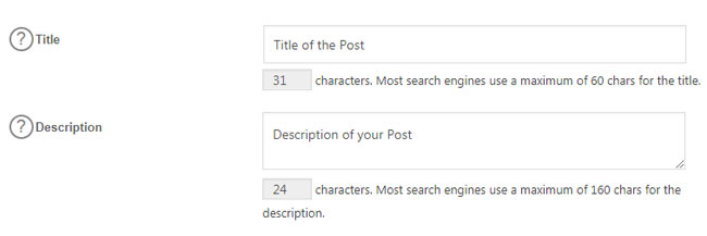 All in One SEO Post Settings
