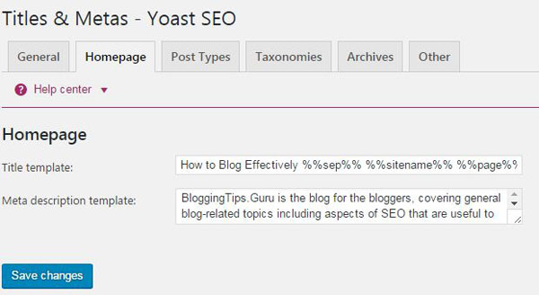 Titles and Meta Titles Yoast SEO