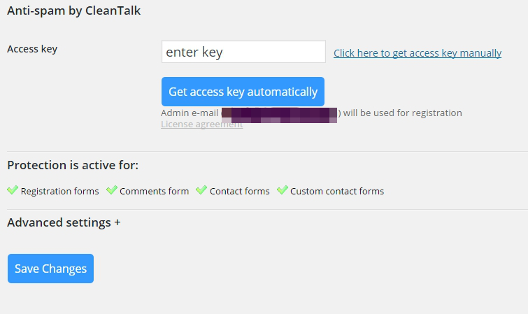 CleanTalk Plugin Activate Plugin